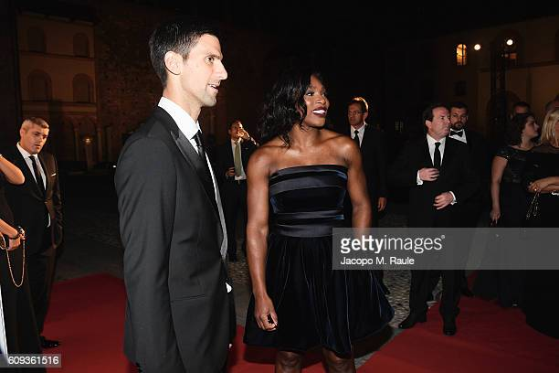 Novak Djokovic and Serena Williams attend the Milano Gala Dinner benefitting the Novak Djokovic Foundation presented by Giorgio Armani at Castello...