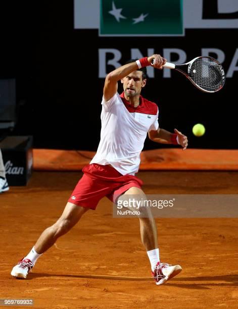 Novak Djokovic at Foro Italico in Rome Italy on May 17 2018