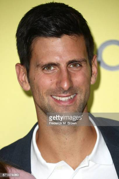 Novak Djokovic attends the celebration of the reopening of the LACOSTE Rodeo Drive Boutique at Sheats Goldstein Residence on November 7 2017 in Los...