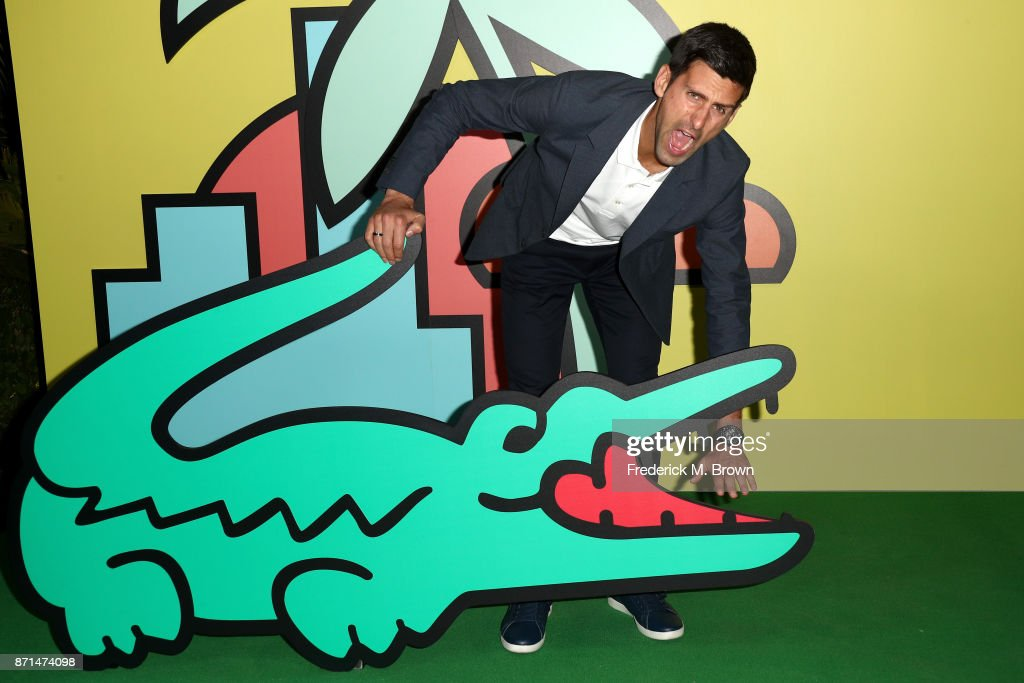 Novak Djokovic attends the celebration of the re-opening of the LACOSTE Rodeo Drive Boutique at Sheats Goldstein Residence on November 7, 2017 in Los Angeles, California.