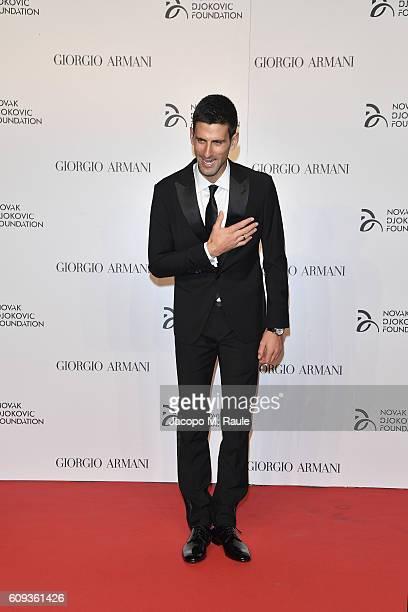 Novak Djokovic attends the Milano Gala Dinner benefitting the Novak  Djokovic Foundation presented by Giorgio Armani be10b0bdd04