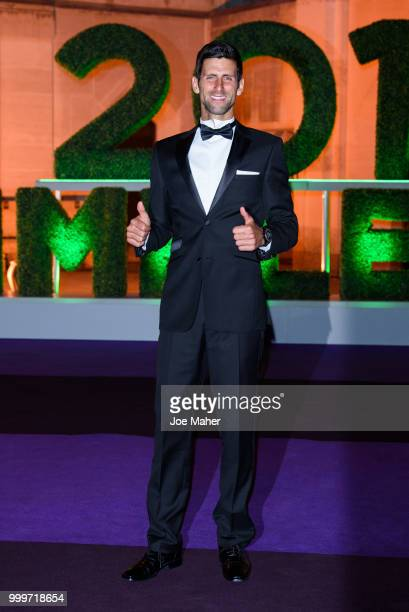 Novak Djokovic attends the Wimbledon Champions Dinner at The Guildhall on July 15 2018 in London England