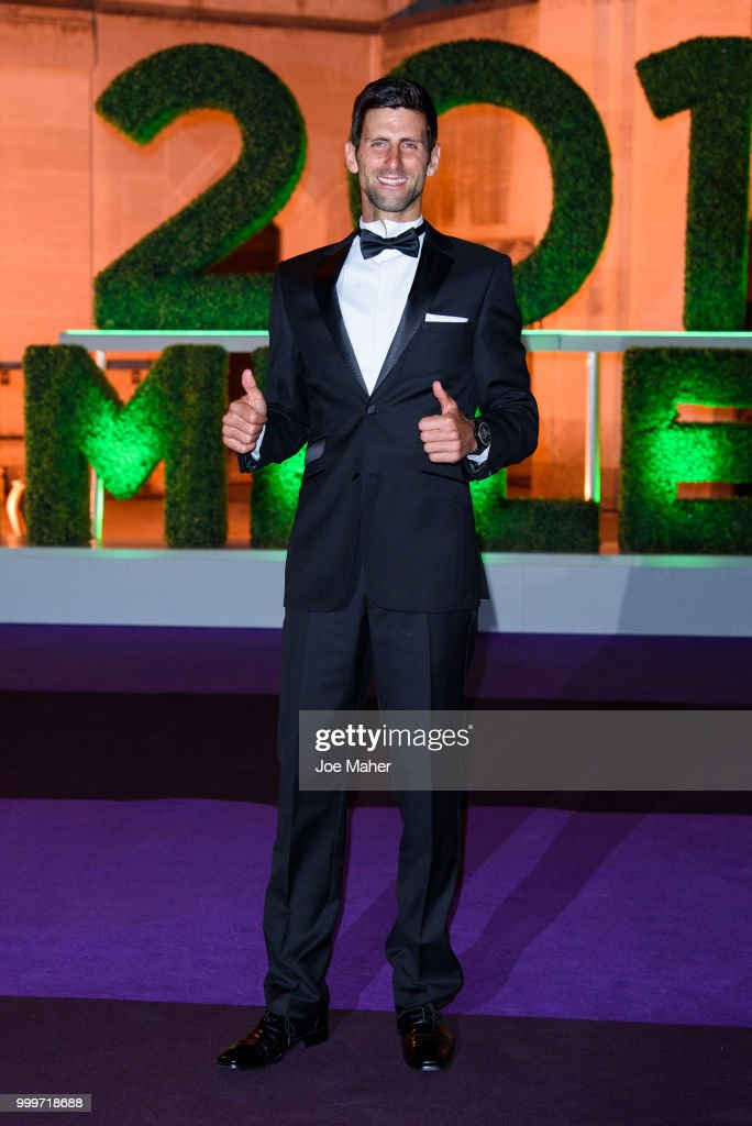 Novak Djokovic attends the Wimbledon Champions Dinner at The Guildhall on July 15, 2018 in London, England.