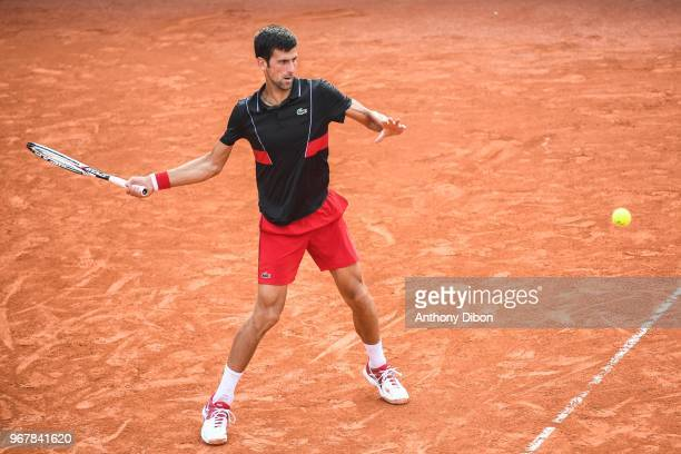 Novak Djokovic during Day 10 for the French Open 2018 on June 5 2018 in Paris France