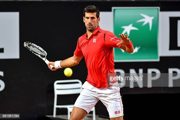 Novak Djokovic during the ATP match Djokovic vs Thomaz Bellucci at the Internazionali BNL d'Italia 2016 at the Foro Italico on May 12 2016 in Rome...