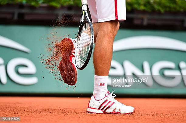 Novak Djokovic during the training on day five of the French Open 2016 at Roland Garros on May 26 2016 in Paris France