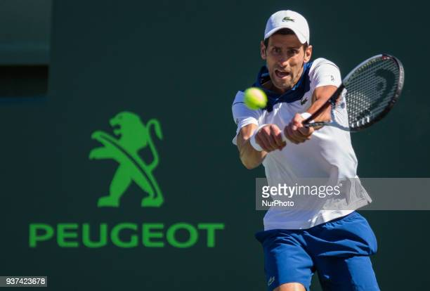 Novak Djokovic from Serbia in action against Benoit Paire from France Djokovic who is still recovering from elbow surjery could never find the rythm...