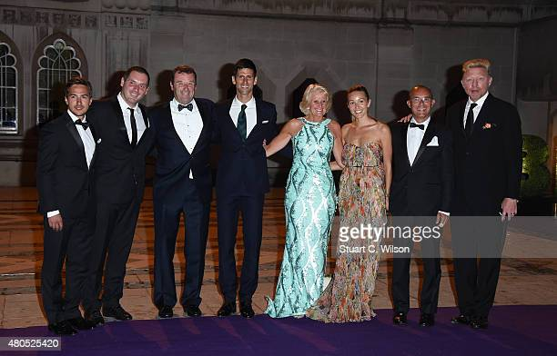 Novak Djokovic Jelena Ristic Boris Becker and guests attend the Wimbledon Champions Dinner at The Guildhall on July 12 2015 in London England