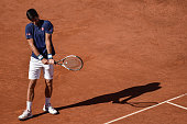 novak djokovic srb looks dejected against