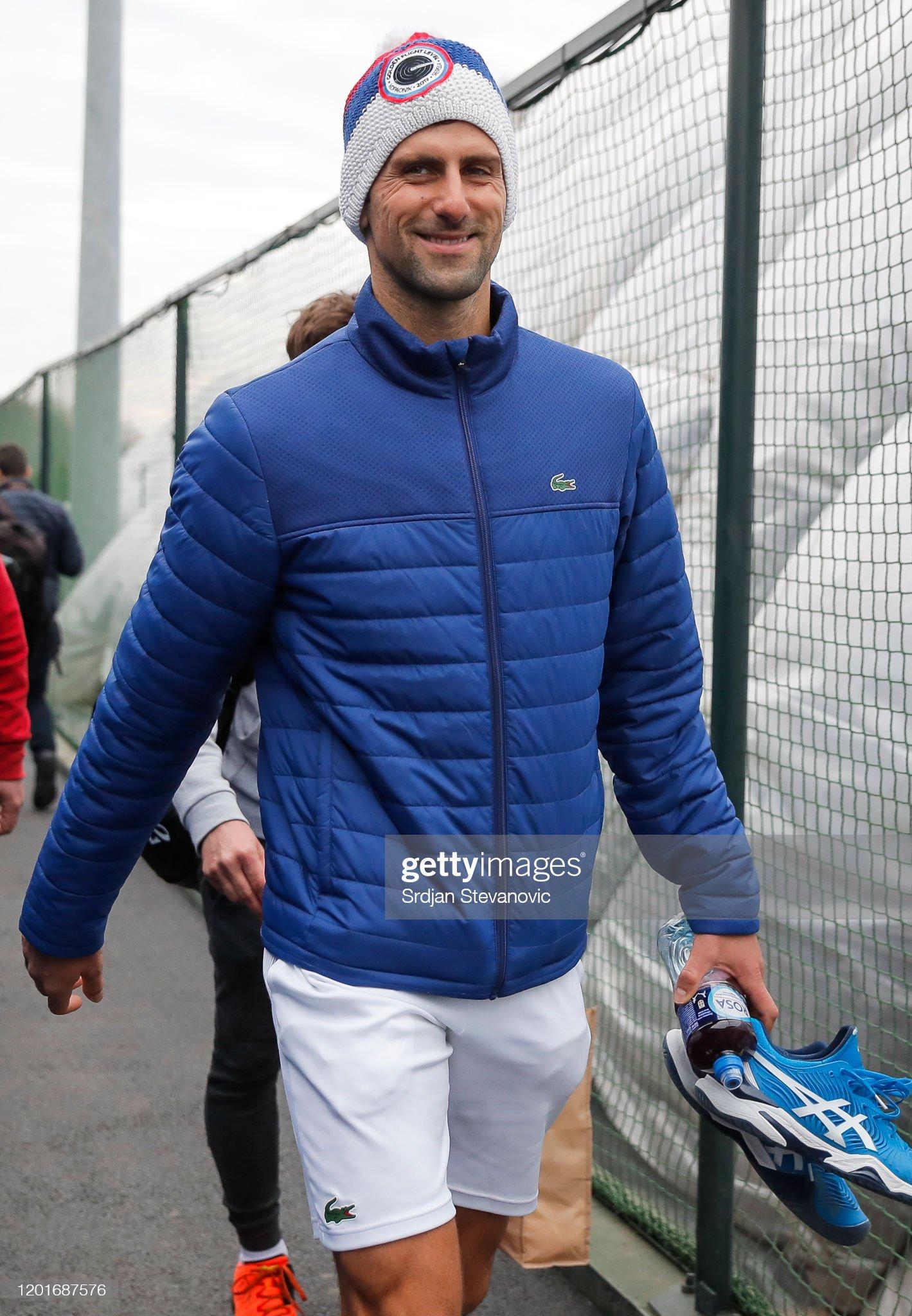 Novak Djokovic Press Conference : News Photo