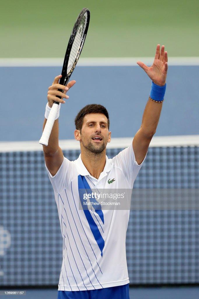 Novak Djokovic Of Serbia Celebrates His Win Over Milos Raonic Of News Photo Getty Images