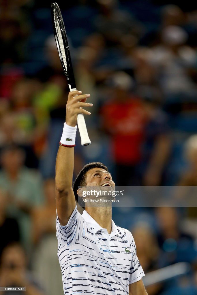 Novak Djokovic Of Serbia Celebrates His Win Over Pablo Carreno Busta News Photo Getty Images