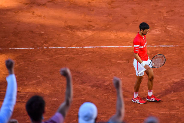 Novak DJOKOVIC of Serbia during the final round of Roland Garros at Roland Garros on June 13, 2021 in Paris, France.