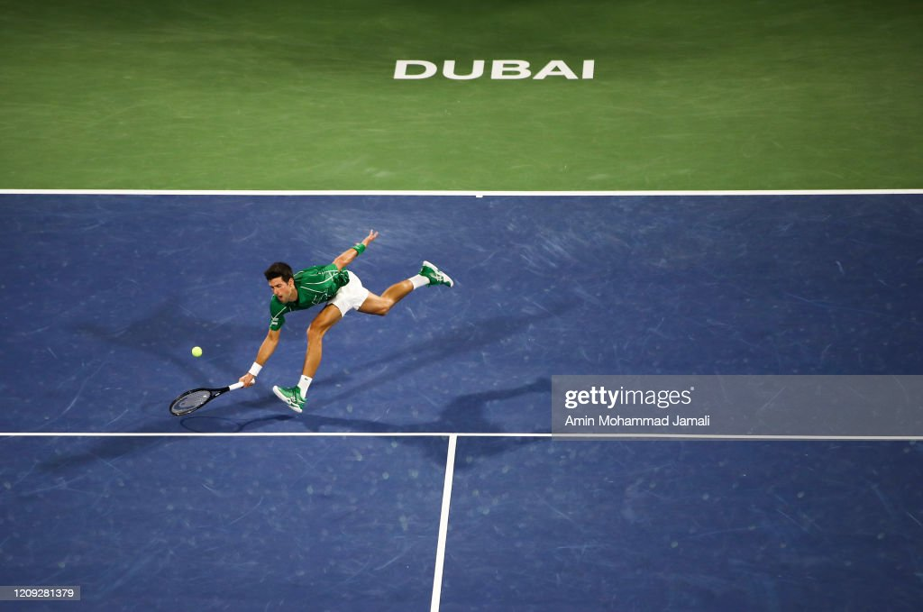 Novak Djokovic Of Serbia In Action Against Gael Monfils Of France News Photo Getty Images
