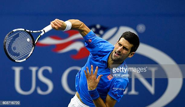 NEW YORK USA SEPT 11 Novak Djokovic of Serbia in action against Stan Wawrinka of Switzerland during their Men's Singles Final Match of the 2016 US...