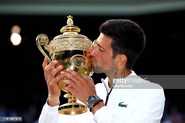 1 693 Djokovic Wimbledon Trophy Photos And Premium High Res Pictures Getty Images
