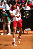 rome italy novak djokovic serbia plays