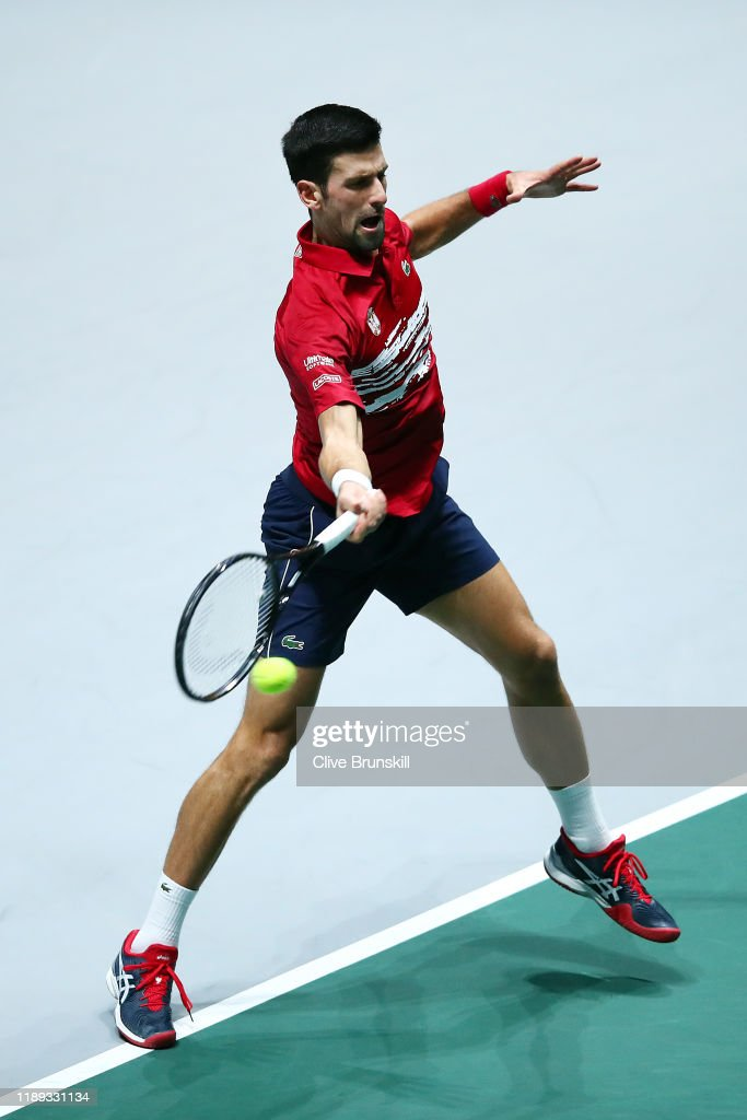 Novak Djokovic Of Serbia Plays A Forehand Against Karen Khachanov Of News Photo Getty Images