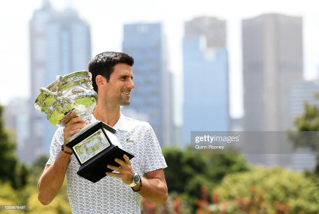 2020 Australian Open Men's Trophy Media Opportunity : Fotografía de noticias
