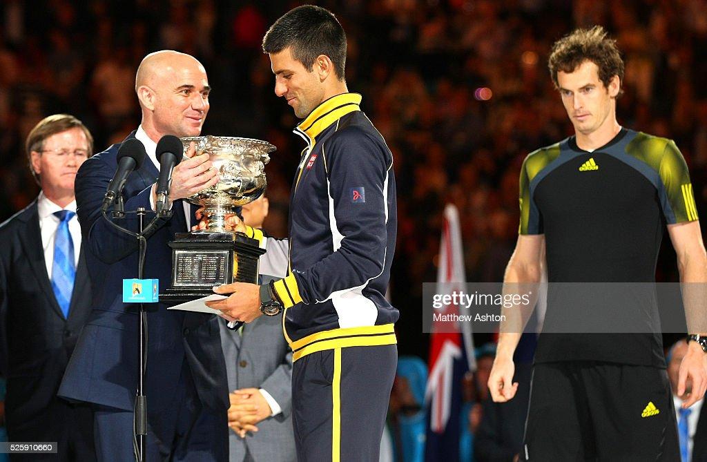 Tennis - Australian Open 2013 - Andy Murray v Novak Djokovic : News Photo