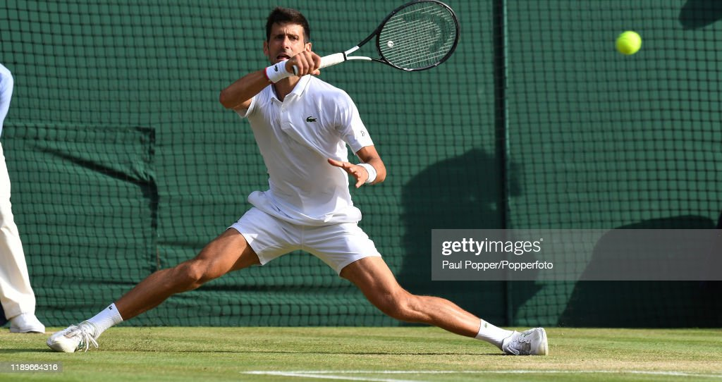 Novak Djokovic Of Serbia Returns A Forehand During The Gentlemen S News Photo Getty Images