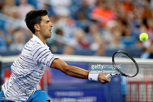 Novak Djokovic Of Serbia Returns A Shot To Pablo Carreno Busta Of News Photo Getty Images