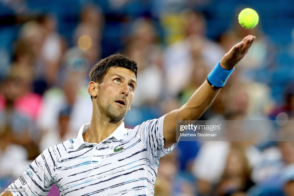 Novak Djokovic Of Serbia Serves To Pablo Carreno Busta Of Spain News Photo Getty Images