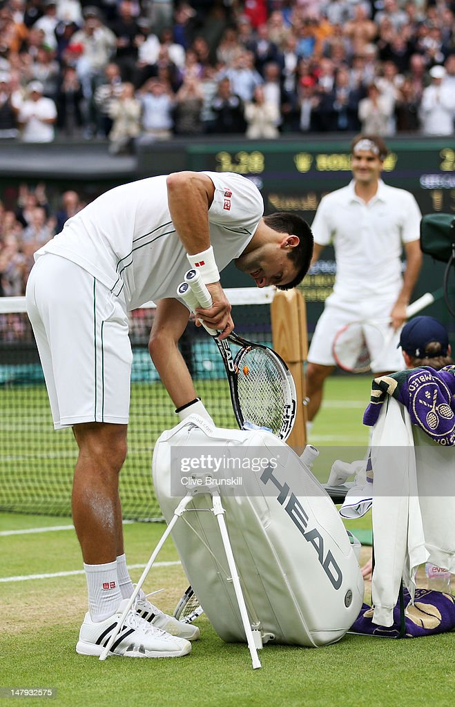 Novak Djokovic Of Serbia Shows His Dejection As He Packs His Bag News Photo Getty Images