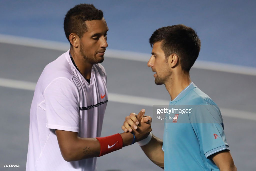 Abierto Mexicano Telcel Day 3 - Djokovic v Kyrgios : News Photo