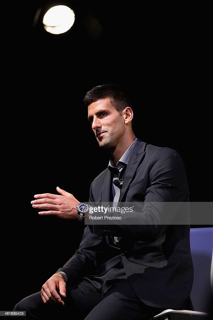 Novak Djokovic SEIKO Media Opportunity : News Photo