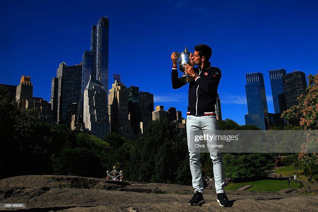 2015 US Open Champion Novak Djokovic New York City Trophy Tour : News Photo