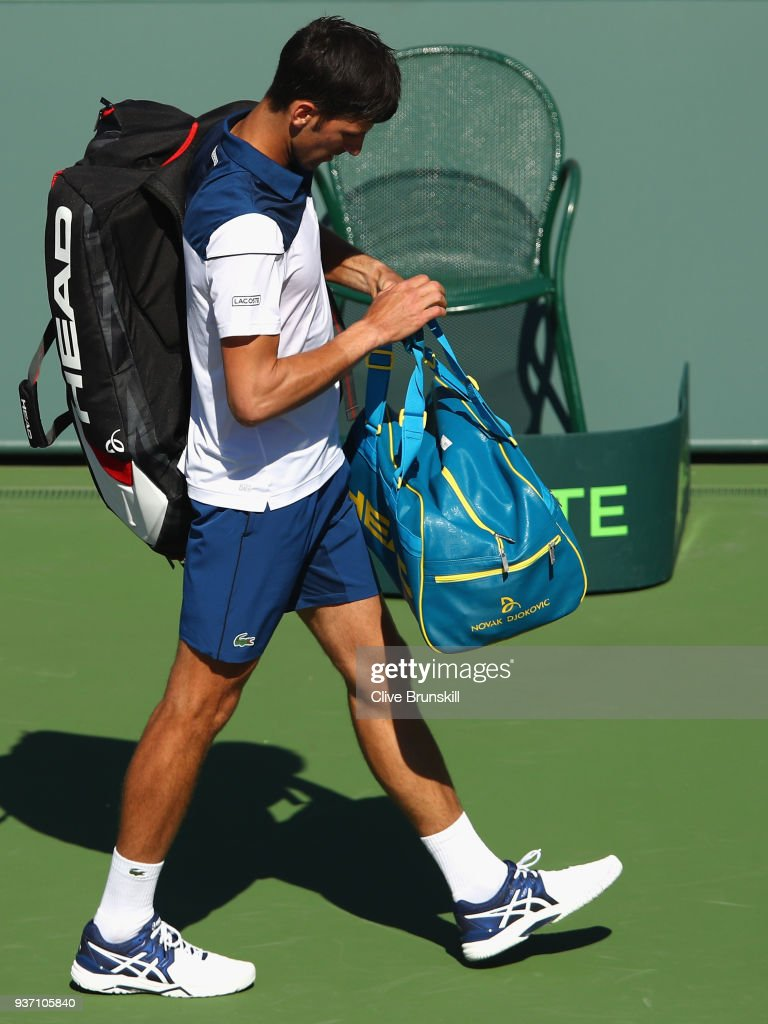 Novak Djokovic Of Serbia Walks Off The Court After His Straight Sets News Photo Getty Images