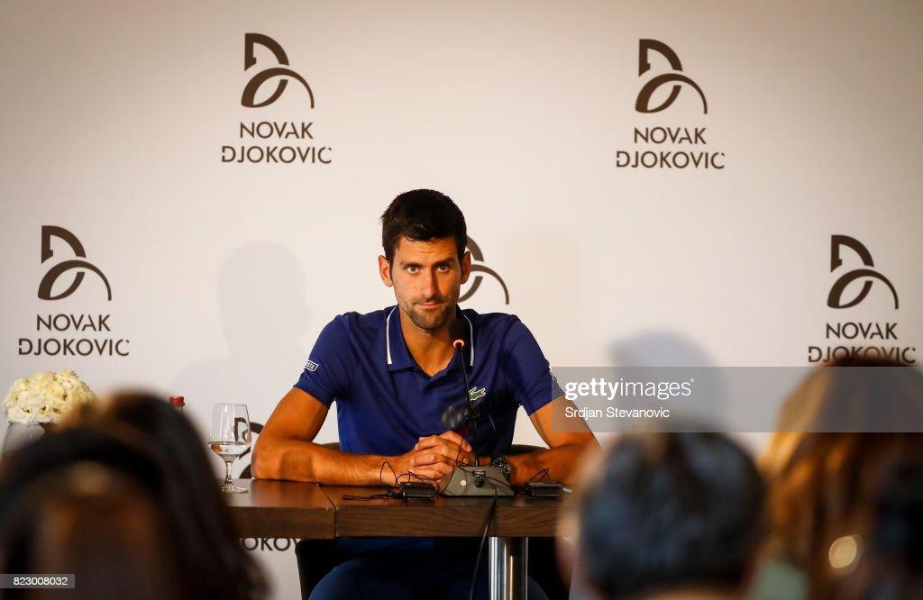 Novak Djokovic Press Conference : ニュース写真
