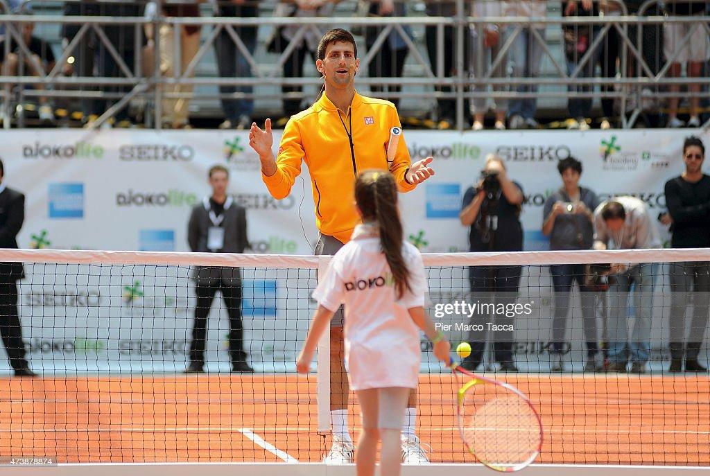 Novak Djokovic Attends Expo 2015 Event In Milan : News Photo