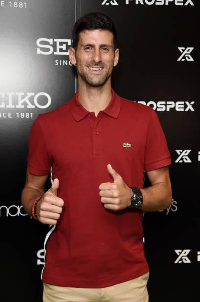 NY: Novak Djokovic Visits Macy's Herald Square