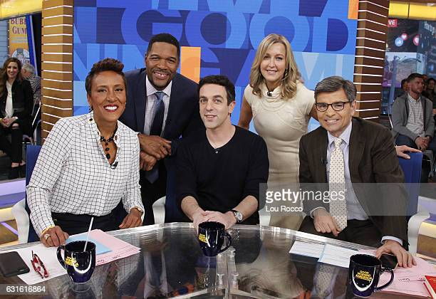 """Novak is a guest on """"Good Morning America,"""" 1/13/17, airing on the Walt Disney Television via Getty Images Television Network. ROBIN ROBERTS, MICHAEL..."""
