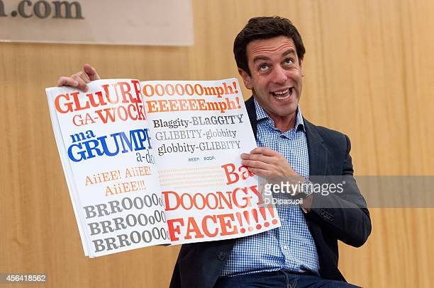 J Novak promotes his book The Book With No Pictures at Barnes Noble 86th Lexington on September 30 2014 in New York City