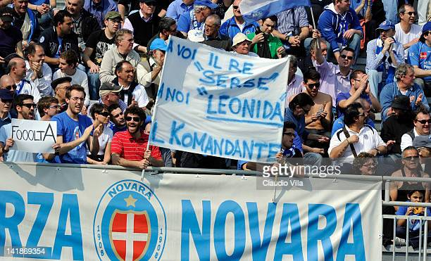 Novara Calcio supporters during the Serie A match between Novara Calcio and US Lecce at Silvio Piola Stadium on March 25, 2012 in Novara, Italy.