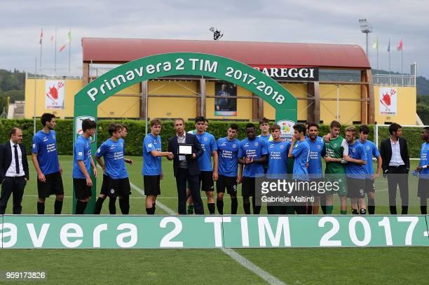 Novara U19 during the SuperCoppa primavera 2 match between Novara U19 and US Citta di Palermo U19 at Centro Tecnico Federale di Coverciano on May 16...
