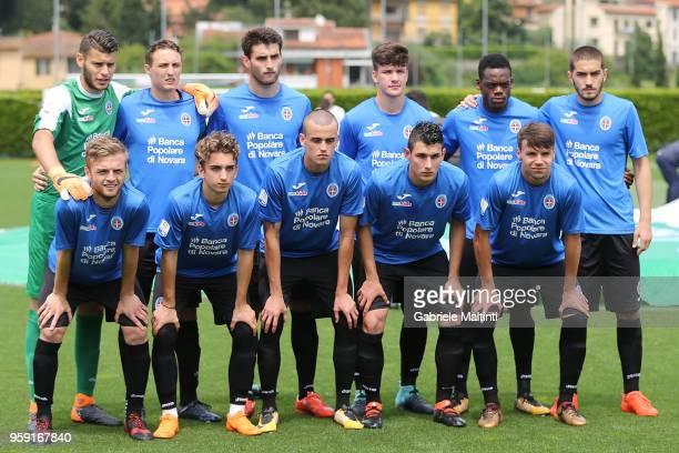 Novara U19 poses during the SuperCoppa primavera 2 match between Novara U19 and US Citta di Palermo U19 at Centro Tecnico Federale di Coverciano on...