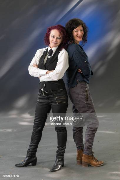 Novelist and poet Rosie Garland and Welsh writer and performer Jess Richards attend a photocall during the annual Edinburgh International Book...