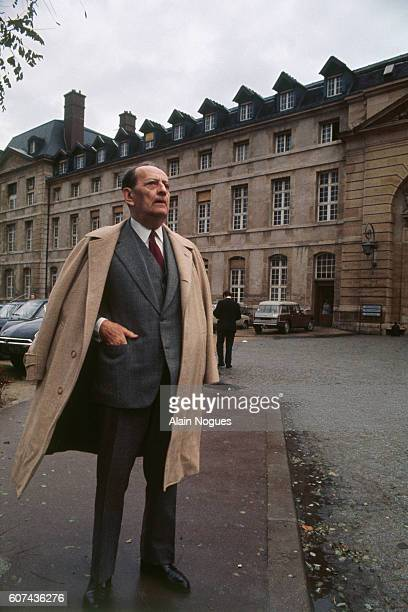 Novelist and statesman Andre Malraux who went into the Salpetriere Hospital on October 19 1972 suffering from a neuropathy of the legs leaves the...