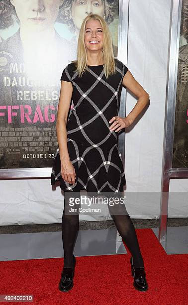 Novelist Candace Bushnell attends the 'Suffragette' New York premiere at The Paris Theatre on October 12 2015 in New York City