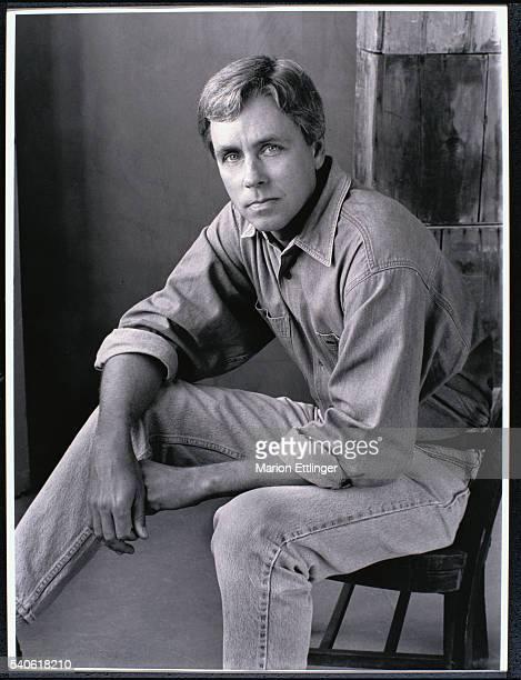 Novelist Carl Hiaasen Seated