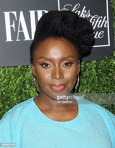 Novelist Chimamanda Ngozi Adichie attends the 2016 Vanity Fair International Best Dressed List at Saks Fifth Avenue on September 21 2016 in New York...