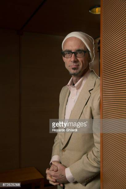 Novelist Chuck Palahniuk poses for a portrait during the 12th Rome Film Festival on November 2017 in Rome Italy