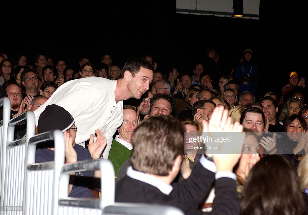 Novelist Chuck Palahniuk stands at a screening of 'Choke' at the Racquet Club Theatre during 2008 Sundance Film Festival on January 21, 2008 in Park City, Utah.