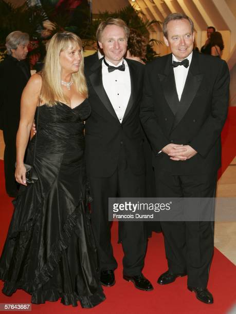 Novelist Dan Brown author of 'The Da Vinci Code' his wife Blythe and France's Minister of Culture Renaud Donnedieu de Vabres attend the Opening...