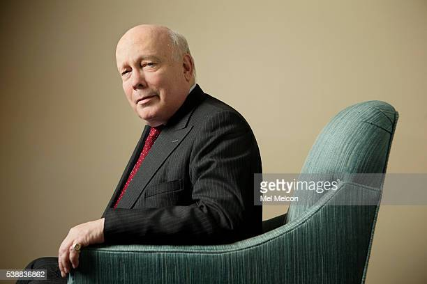 Novelist director and screen writer Julian Fellowes is photographed for Los Angeles Times on April 29 2016 in Los Angeles California PUBLISHED IMAGE...
