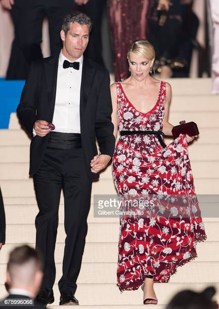 Novelist Douglas Brunt and Journalist Megyn Kelly are seen leaving the 'Rei Kawakubo/Comme des Garcons Art Of The InBetween' Costume Institute Gala...